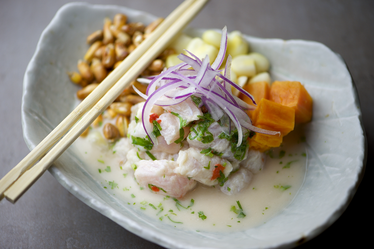 photo of ceviche plate
